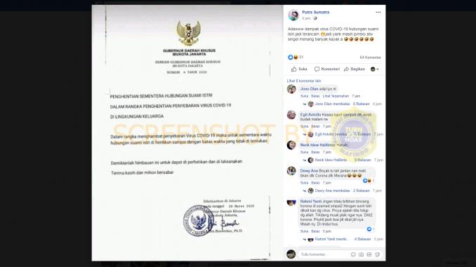surat gubernur dampak corona suami istri